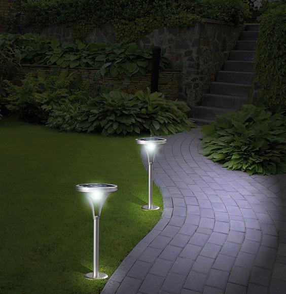 iluminacion jardines leds